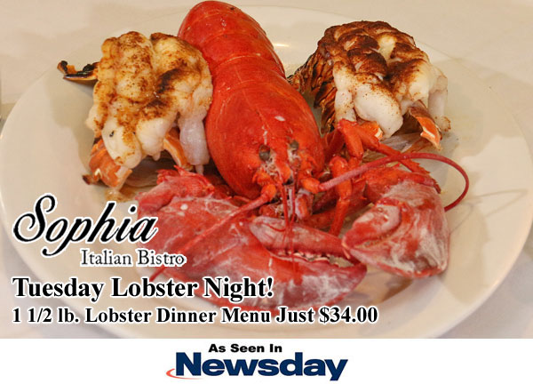 Newsday Tuesday Lobster Night