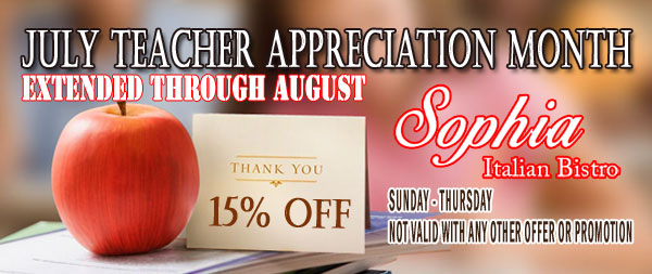 July Teacher Appreciation Month